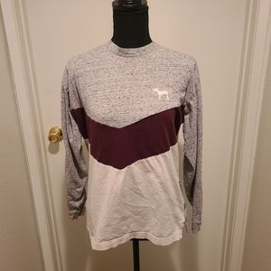 PINK victorias secret long sleeve tee xs